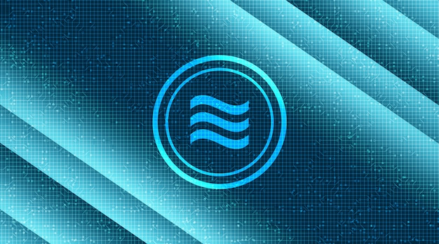 Weegschaal cryptocurrency-symbool op de achtergrond van de netwerktechnologie