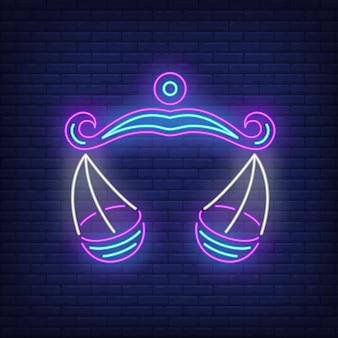 Weegschaal neon sign