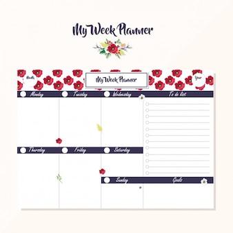 Week planner ontwerp