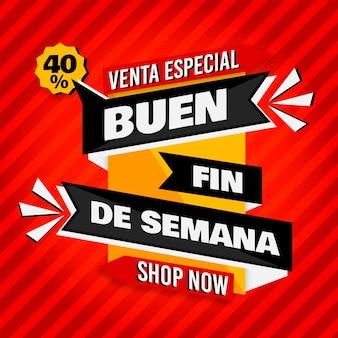 Week van speciale mexicaanse verkoop