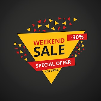 Weekend limited aanbieding mega sale banner