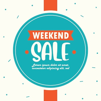 Weekend verkoop sjabloon voor spandoek