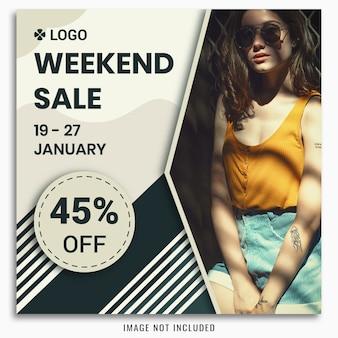 Weekend verkoop social media post-sjabloon
