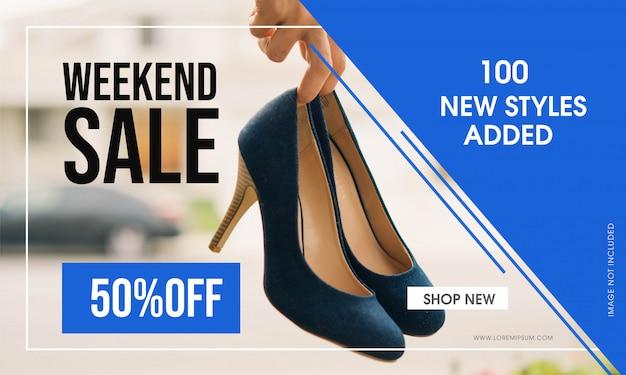 Weekend verkoop vector banner ontwerp