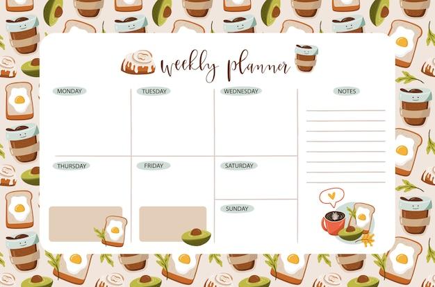 Weekplanner. te doen lijst.