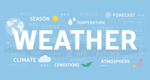 Weer concept illustratie. idee van seizoen en klimaat.