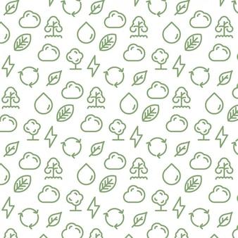 Weer elementen patroon ontwerp