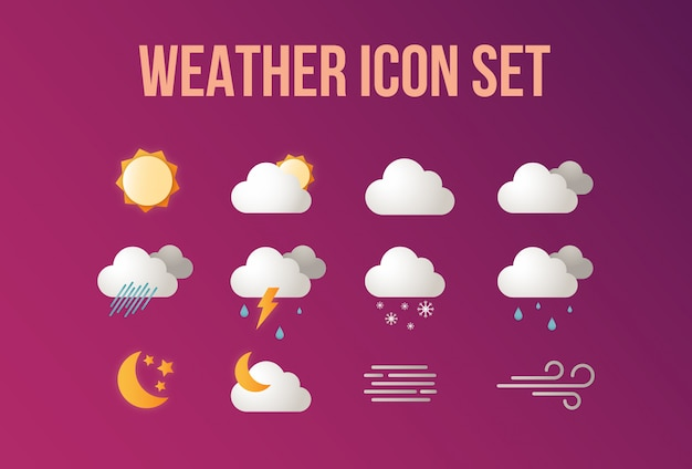 Weer icon set