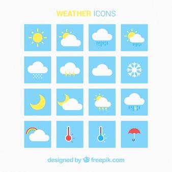 Weer icoon collectie