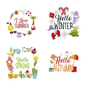 Weer seizoen winter zomer herfst lente