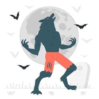 Weerwolf concept illustratie