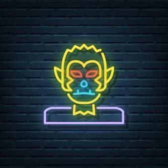 Weerwolf neon sign vector elementen