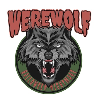 Weerwolfontwerp voor halloween