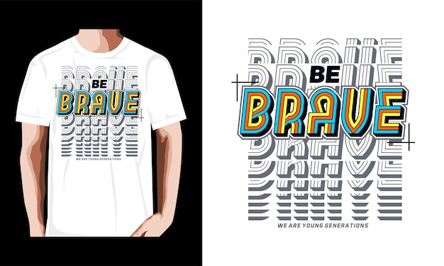 Wees dapper typografie tshirt ontwerp premium vector