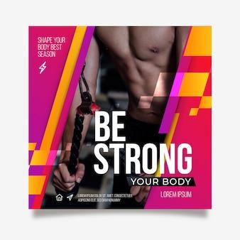 Wees een sterke sportposter