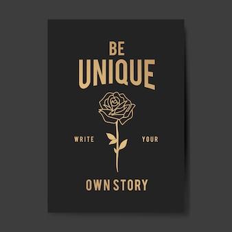 Wees een unieke poster