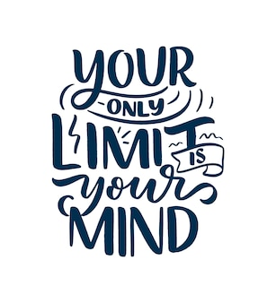 Wees jezelf belettering slogan. grappig citaat voor blog