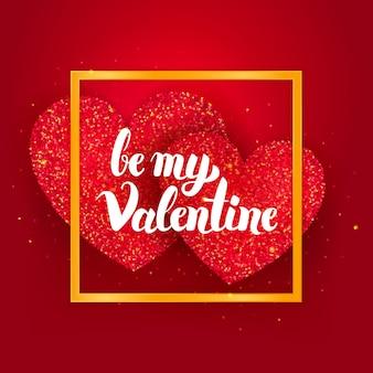 Wees mijn valentijnskaart. vectorillustratie van liefde vakantie wenskaart.
