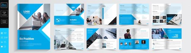 Wees positief & creatief concept brochure sjabloon.