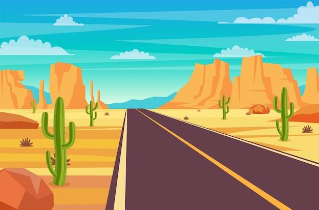 Weg in de woestijn
