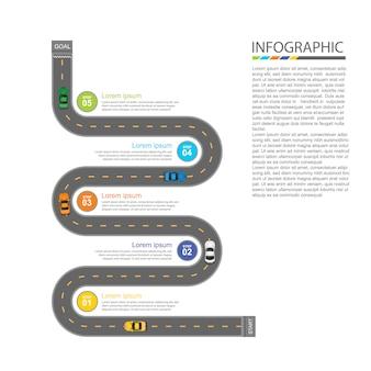 Weg infographic ontwerp