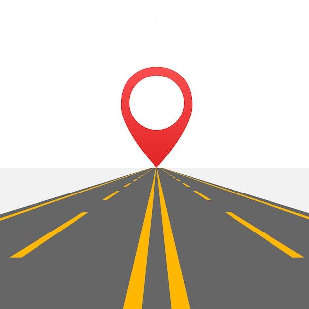 Weg naar oneindige snelweg. weg in de woestijn. .