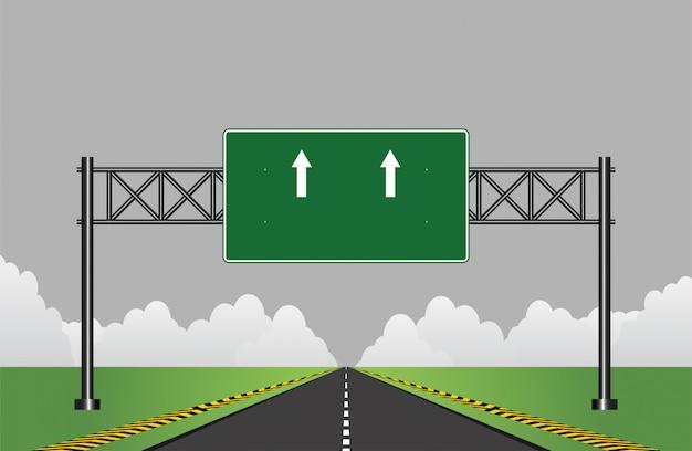 Weg snelweg teken