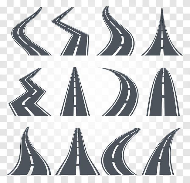 Wegen ingesteld. snelweg illustratie