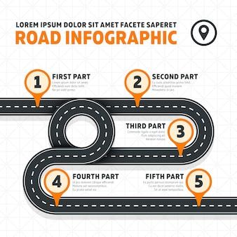 Wegenkaart, straat, moderne infographics van de weg moderne zaken. businessplanwegenkaart, illustratie