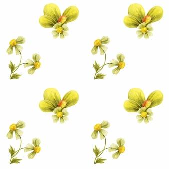 Weide wilde planten naadloze patroon