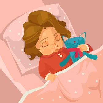 Weinig het glimlachen karakter van het babymeisje. platte cartoon afbeelding