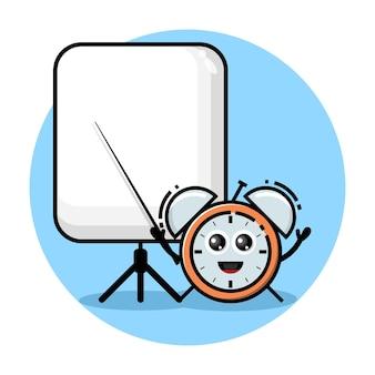 Wekker leraar schattig karakter logo