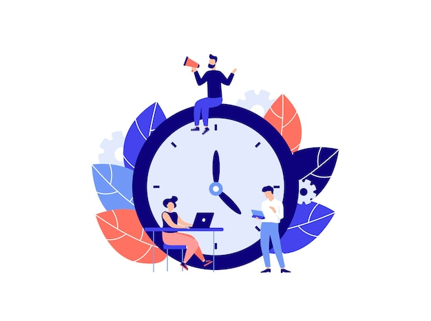 Wekker op witte achtergrond werktijd management concept snelle wakker reactie