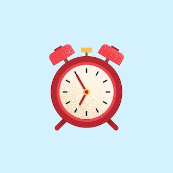 Wekker, wektijd. platte vector pictogram
