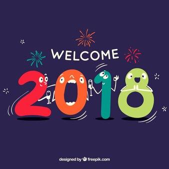 Welkom 2018 achtergrond
