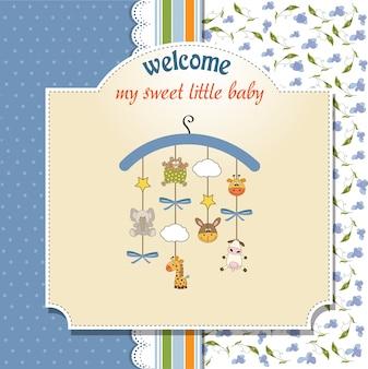 Welkom baby aankondigingskaart