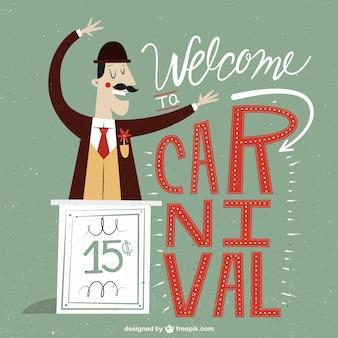 Welkom bij carnaval illustratie