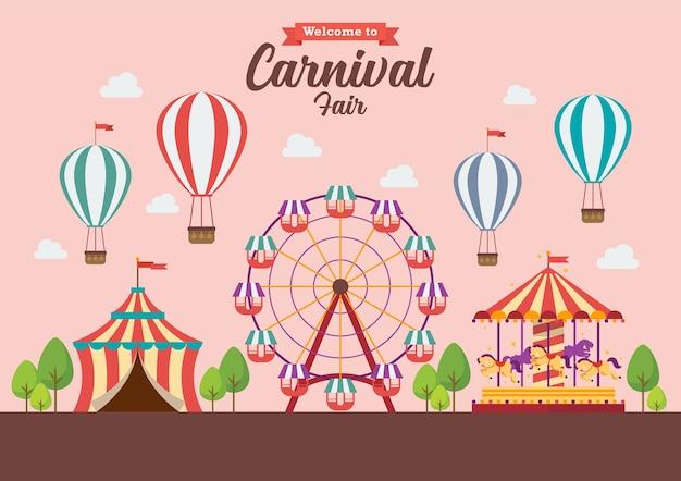 Welkom bij carnival fair.
