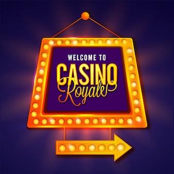 Welkom bij casino marquee board of frame design.