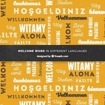 Welkom bij de achtergrondcompositie in verschillende talen