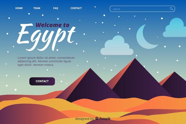 Welkom bij de bestemmingspagina-sjabloon van egypte