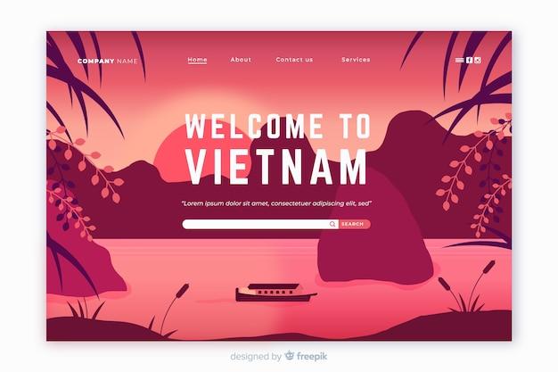 Welkom bij de bestemmingspagina-sjabloon van vietnam