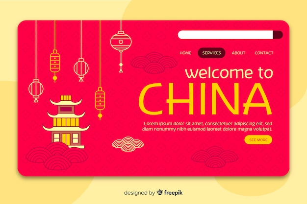 Welkom bij de bestemmingspagina-sjabloon voor china