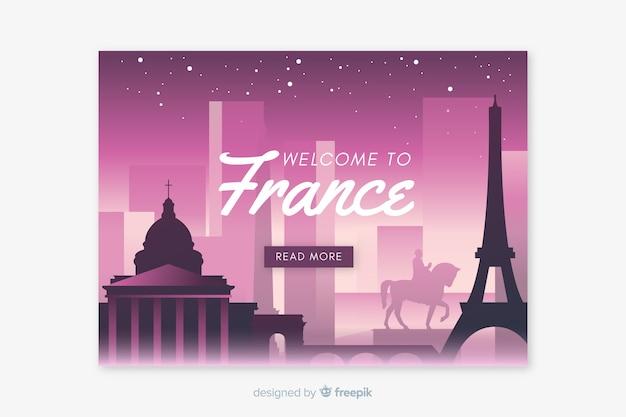 Welkom bij de bestemmingspagina-sjabloon voor frankrijk