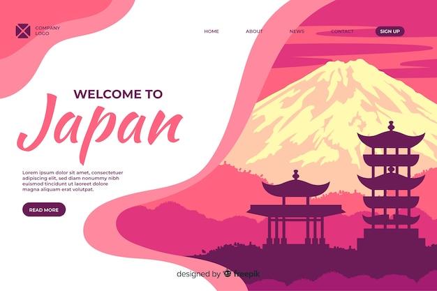 Welkom bij de bestemmingspagina-sjabloon voor japan