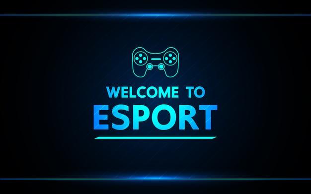 Welkom bij e-sport abstracte technologiegame