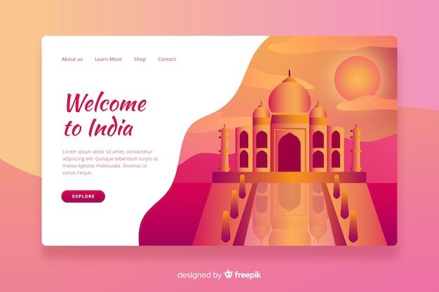 Welkom bij india bestemmingspagina sjabloon