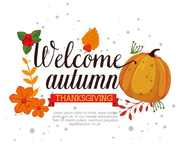 Welkom herfst seizoenskaart