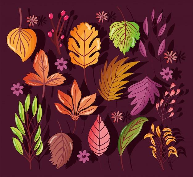 Welkom herfstbladeren seizoen naadloos patroon