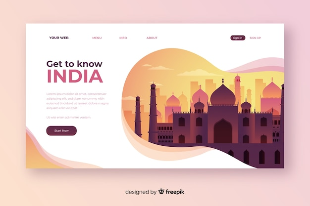 Welkom op de bestemmingspagina van india